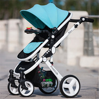 Kidstrave Luxury Baby Stroller 2 in 1 High Land Scape Pram Portable Bebek Arabasi Kinderwagen Poussette Car