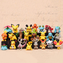 24pcs/set 4-5cm Anime Figures Toys pokemones Action Figure Toys Model Decoration for Kids Christmas Gifts цена 2017