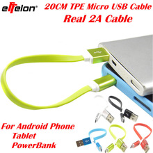 Effelon 5V 2A TPE Colorful Flat Usb Charger wire Sync Data Cable For Samsung Galaxy S3 S4 S5 S6 Portable Powerbank Android