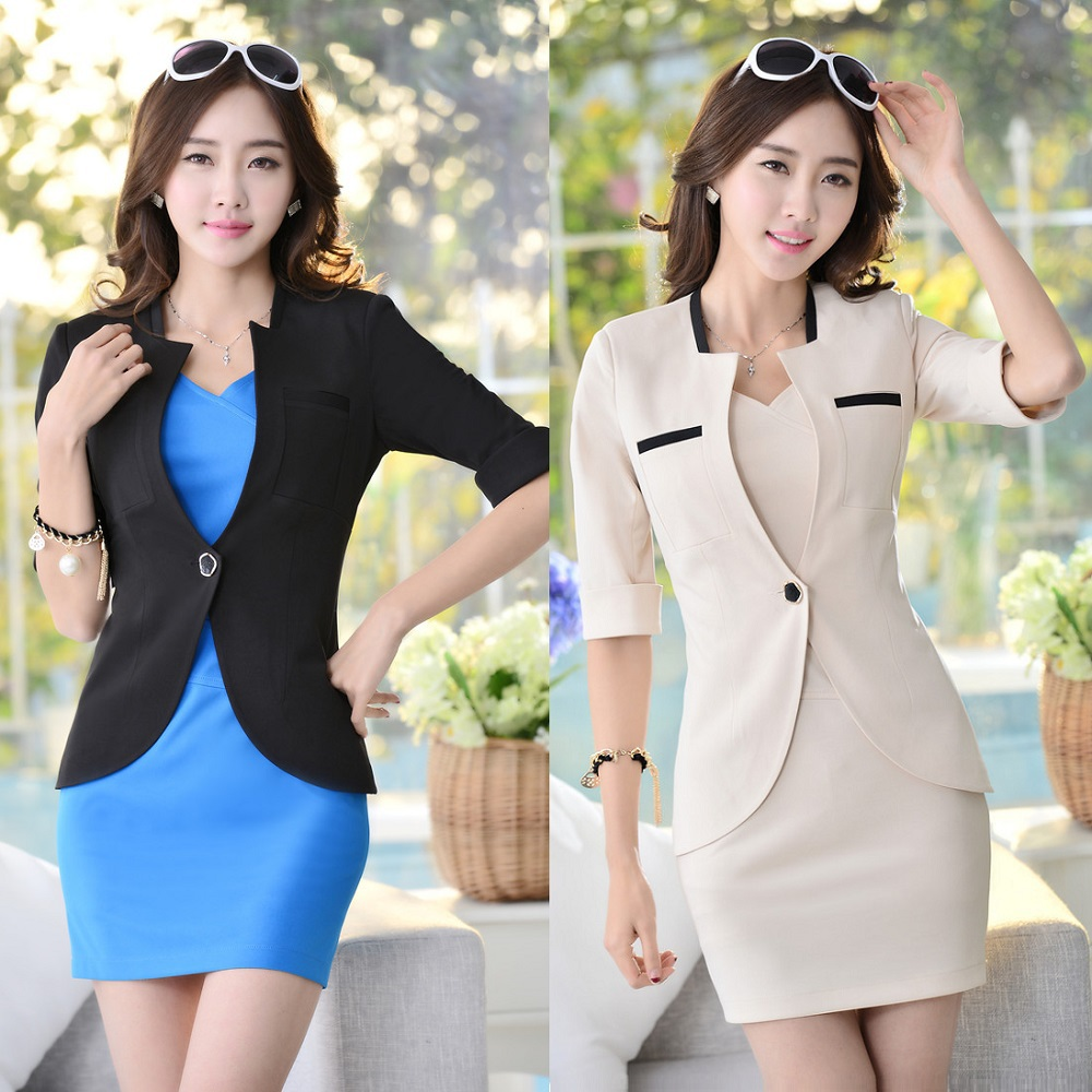 Spring Formal Dress Suits For Women Business Suits Blazer And