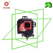 Fukuda Marke 12 Linien 3D MW-93T Laser-niveau Selbstverlaufende 360 Horizontale Und Vertikale Kreuz Super Leistungsstarke grüne Laser strahl Linie