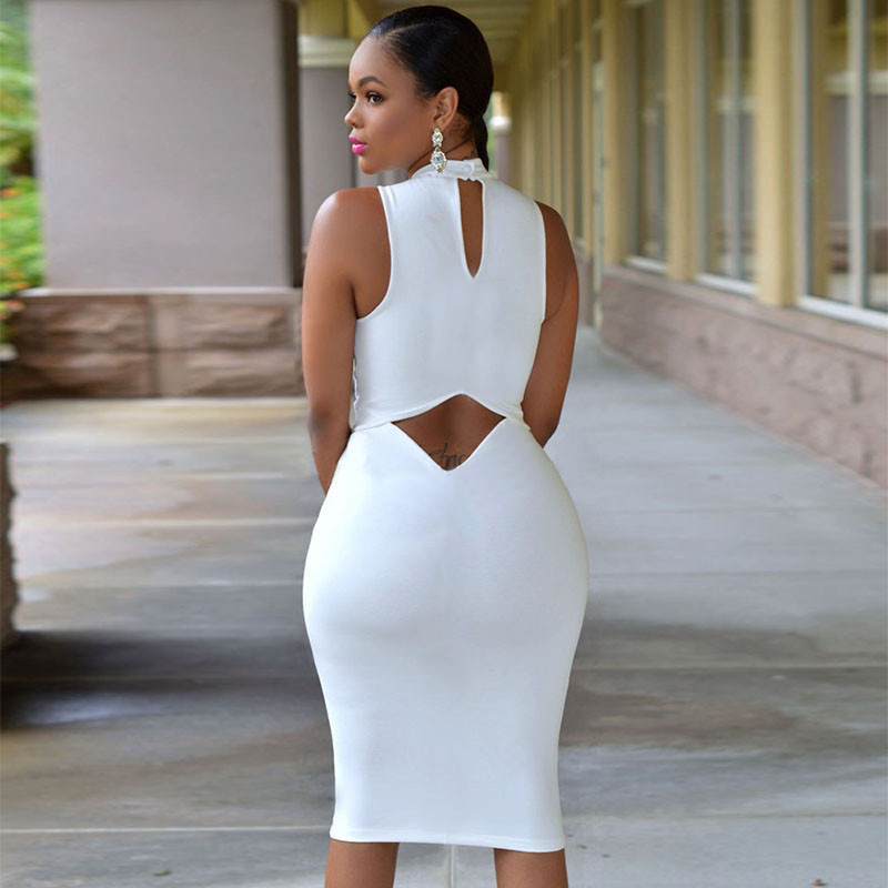 2017 SEXY Halter Pack hip 4XL SOLID TANK BASIC SCOOP NECK RACERBACK RIBBED CASUAL MAXI WOMEN SUMMER Tight DRESS Sleeveless Dress 3