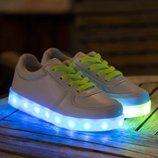 Colorful Led KIds Sneakers Chidren Sport Shoes Boys Girls USB Charging LED  Light Shoe Luminous Chaussure 786fec29f99f