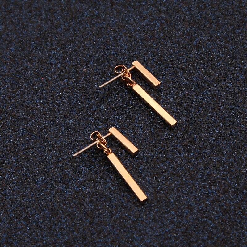 New Fashion Simple T Bar Ear earrings for women wedding gifts 2018 jewelry stud earrings girl jewelry Dropshipping E0209