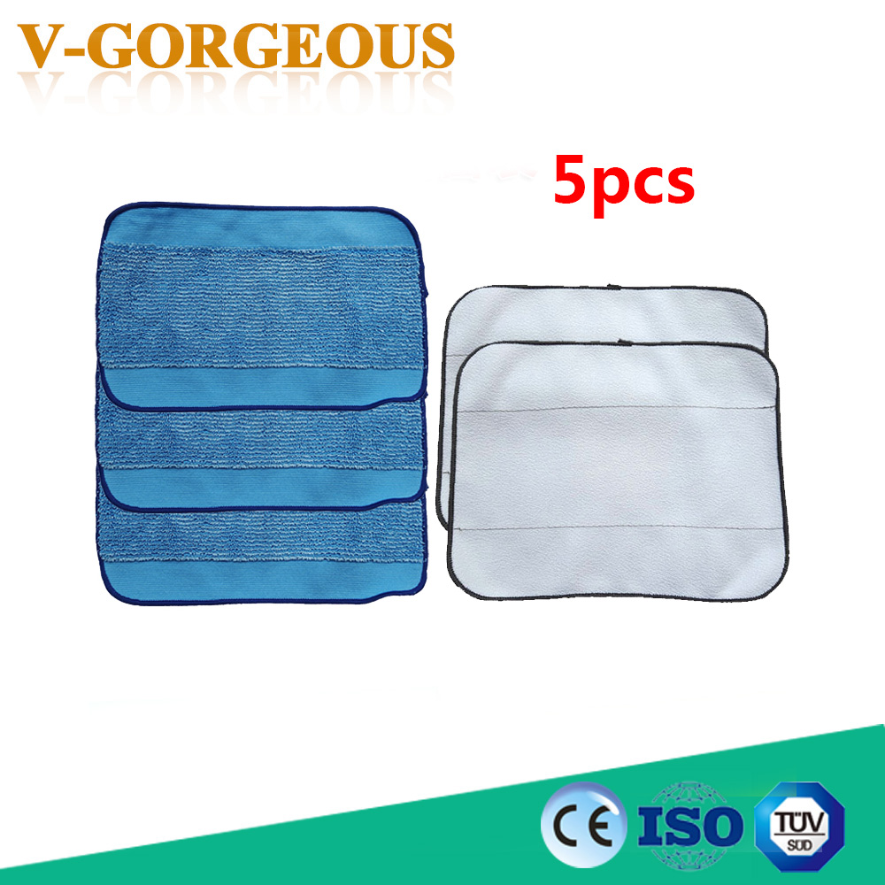 High Quality Microfiber 5-Pack Pro-Clean Mopping Cloths for Braava Floor Mopping Robot irobot Braava Minit 4200 5200 380 380t