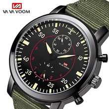 2019 Mens Sports Waterproof Watch Army Pilot Military Fashion Men Nylon Belt Quartz Wrist relogio masculino