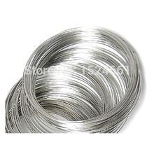 Провод 65 мм-70 мм диаметр. 100 петель Серебряный тон памяти Бисероплетение проволока для браслета* веревка