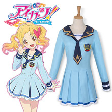 Aikatsu estrellas nijino yume traje japonés de cosplay del anime uniforme escolar marinero navy dress traje de la muchacha de las mujeres disfraces de halloween
