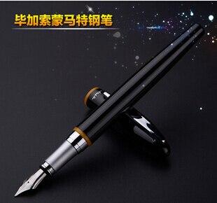 Free Shipping Pimio 907 0.5mm Iridium Nib Luxury Smooth Metal Fountain Pen with Original Gift Box Ink Pens