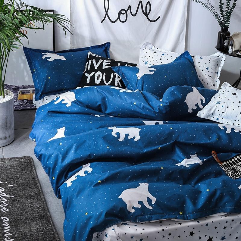 Solstice Home Textile Cartoon Polar bear Bedding Sets Children 39 s Beddingset Bed Linen Duvet Cover Bed Sheet Pillowcase bed Sets in Bedding Sets from Home amp Garden