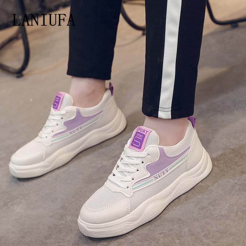 ladies Out of doors Operating Sneakers Spring ladies Breathable Informal Spherical Cross Straps flats Non-slip Snug Mesh Sneakers mujer #028 Ladies's Flats, Low cost Ladies's Flats, ladies Out of...
