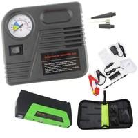 Mini Mobiele Telefoon Laptop Batterij Oplader Draagbare Auto Jump Starter Met Pomp Auto Booster 2 Usb-poort Power Bank 12V