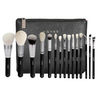 YAVAY 15 Pcs Complete Makeup Brushes Set Professional Luxury Set Make Up Tools Kit Powder Blending