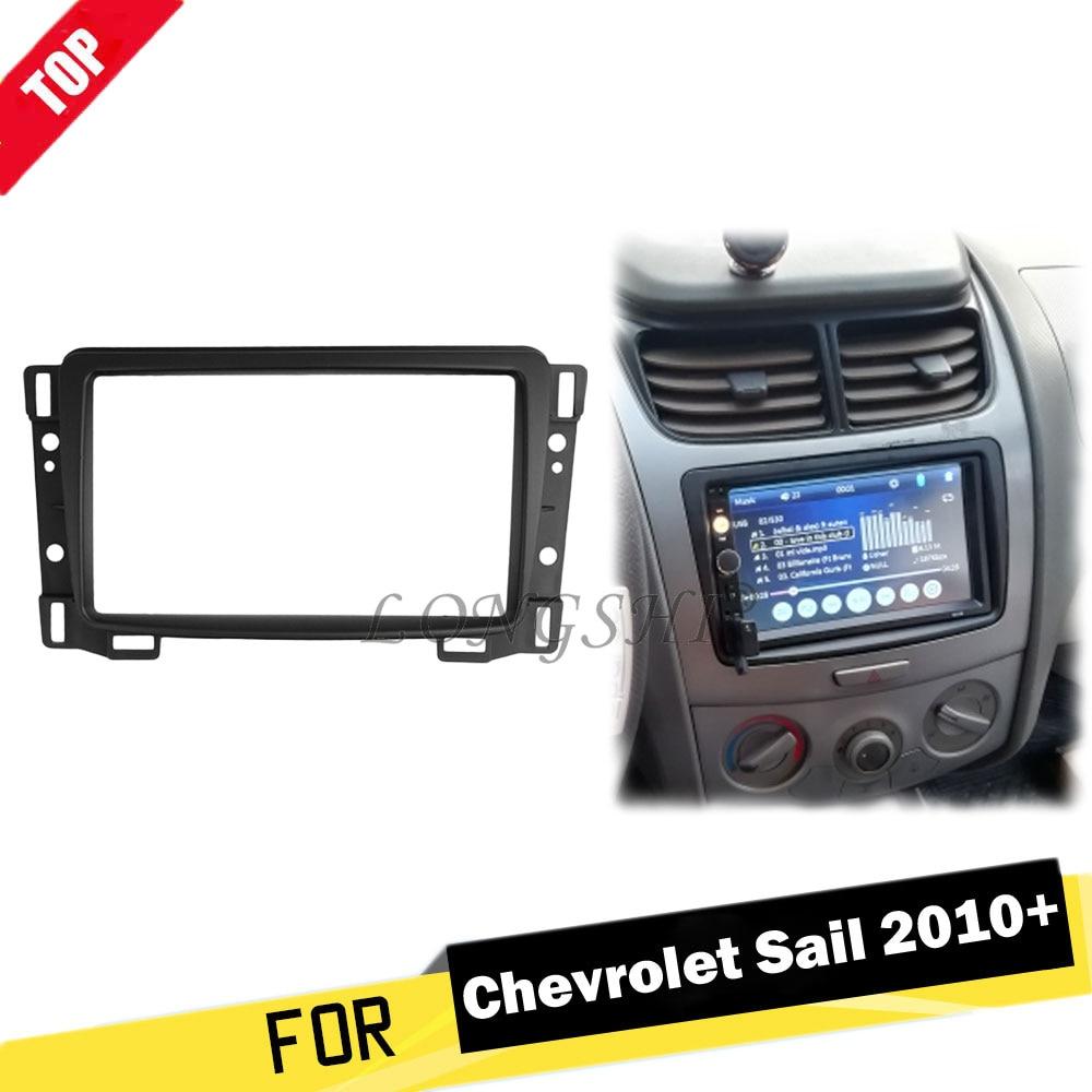 Double Din Car Radio Fascias For Chevrolet Sail DVD Stereo Panel Fascia Dash Mount Kits Refit Installation Trim Frame Bezel 2din
