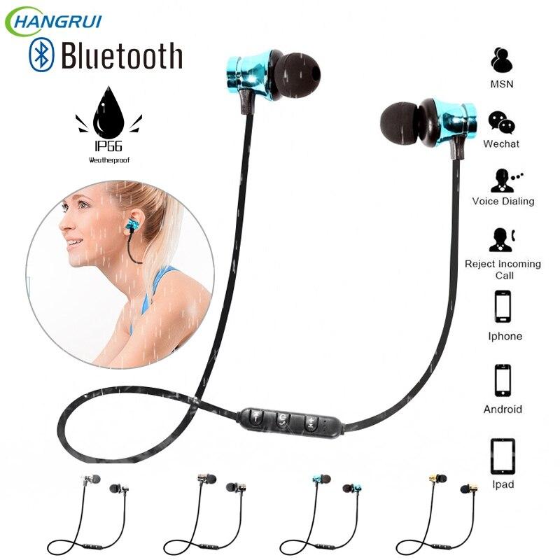 Hangrui X9 Magnetic Bluetooth earphone In Ear Earphones Stereo Sport Waterproof Headset Headphone with Mic earbuds auriculares