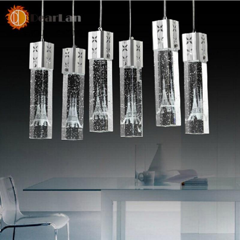 ФОТО Modern Crystal Pendant  Lamp Eiffel Tower Glass Pendant Light Foyer Lamp Bar Lamp Hotel Hall Light Free Shipping