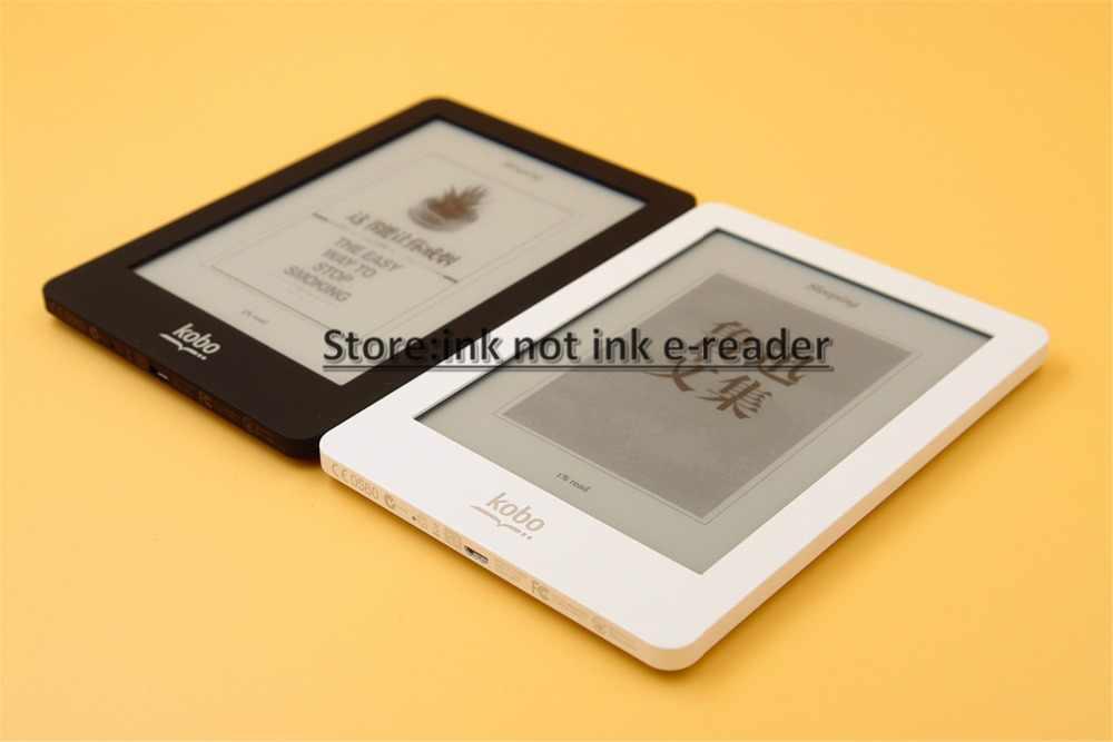 EBook eReader Kobo Glo e-Book pantalla táctil lector de tinta electrónica 6 pulgadas 1024x768 2GB WIFI e lector de libros electrónicos de tres colores