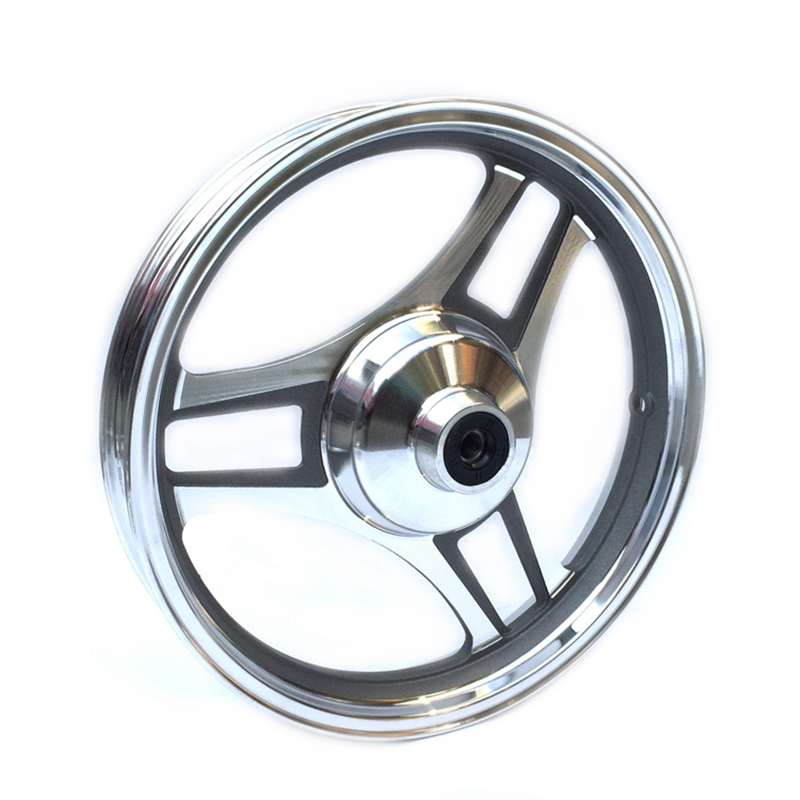 Front Wheel Hub 14x2.5 for Electric Bike Scooters e-Bike Drum Brake Front Wheel Rim promax driven wheel block for gy6 150cc scooters atvs go karts moped quads 4 wheeler dune buggys