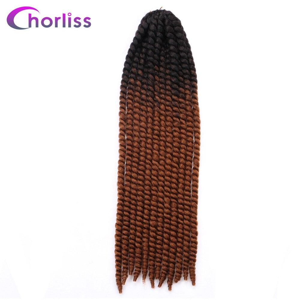 Chorliss 22 Mambo Twist 2X Braiding Hair Crochet Twist Braid Synthetic Black Blonde Blue Purple Hair