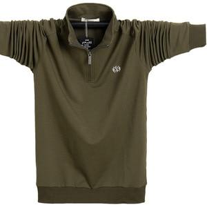 Image 5 - Koszula męska z długim rękawem Plus rozmiar 6XL 7XL 8XL moda męska Business Casual bawełniana koszula męska z długim rękawem Soild skręcić w dół kołnierz