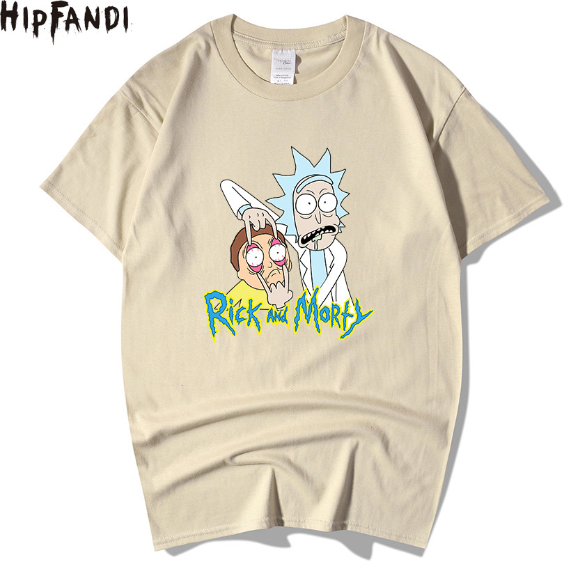 Summer 100% cotton Rick And Morty   T     Shirts   Men Chicken Brothers Man   T  -  shirts   Sitcoms Short Sleeve O Neck Cotton   Shirts
