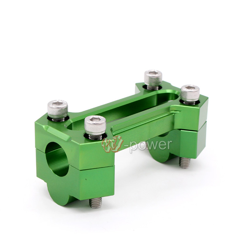 CNC Aluminum Motorcycle 7/8 (22mm) Handle Bar Clamp Handlebar Mount Riser Rise Height of 20mm For KAWASAKI Z800 2013-2014 Green for bmw r1200gs adv f800gs adv f700gs new motorcycle adjustable handlebar riser bar clamp extend adapter