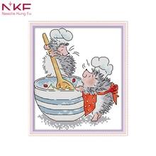 NKF picture kitchen decoration animal cross stitch cartoon d