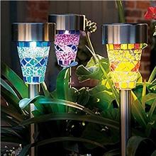 3PCS/Lot LED Solar Light Garden Pathway Lawn Lighting Lamps Solar Decoration Night Light 16-20W High Brightness Lighting Lamp