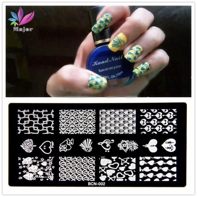 10pcs 1set Hot Bc High Heels Konad Nail Polish Stamping Plates Art Stamp