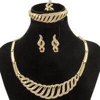 CZ European Fashion Women's Wedding Jewelry Individual Chunky Collar Crystal Necklace Bracelet Set Anniversary Gift Jewelry Set