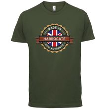 Made In HARROGATE Mens T-Shirt - Town / City 13 ColoursMenS T-Shirts Summer Style Fashion Swag Men T Shirts Classic