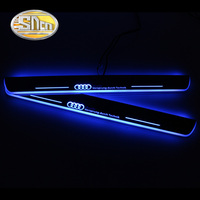 SNCN 4PCS Acrylic Moving LED Welcome Pedal Car Scuff Plate Pedal Door Sill Pathway Light For Audi A4 B9 S4 RS4 2013 2016