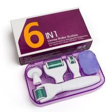 6 в 1 микроиглы дермальный валик в комплекте для лица и тела, 300/720/1200 Титан дермароллер микро-иглы для лица ролик забота о коже