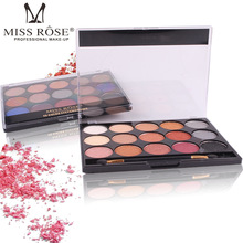 Miss Rose maquiagem 15 colors matte eyeshadow palette earth nude color shimmer eyeshadow powder pigment Glitter Eye Nude Makeup 03 nude rose page 2