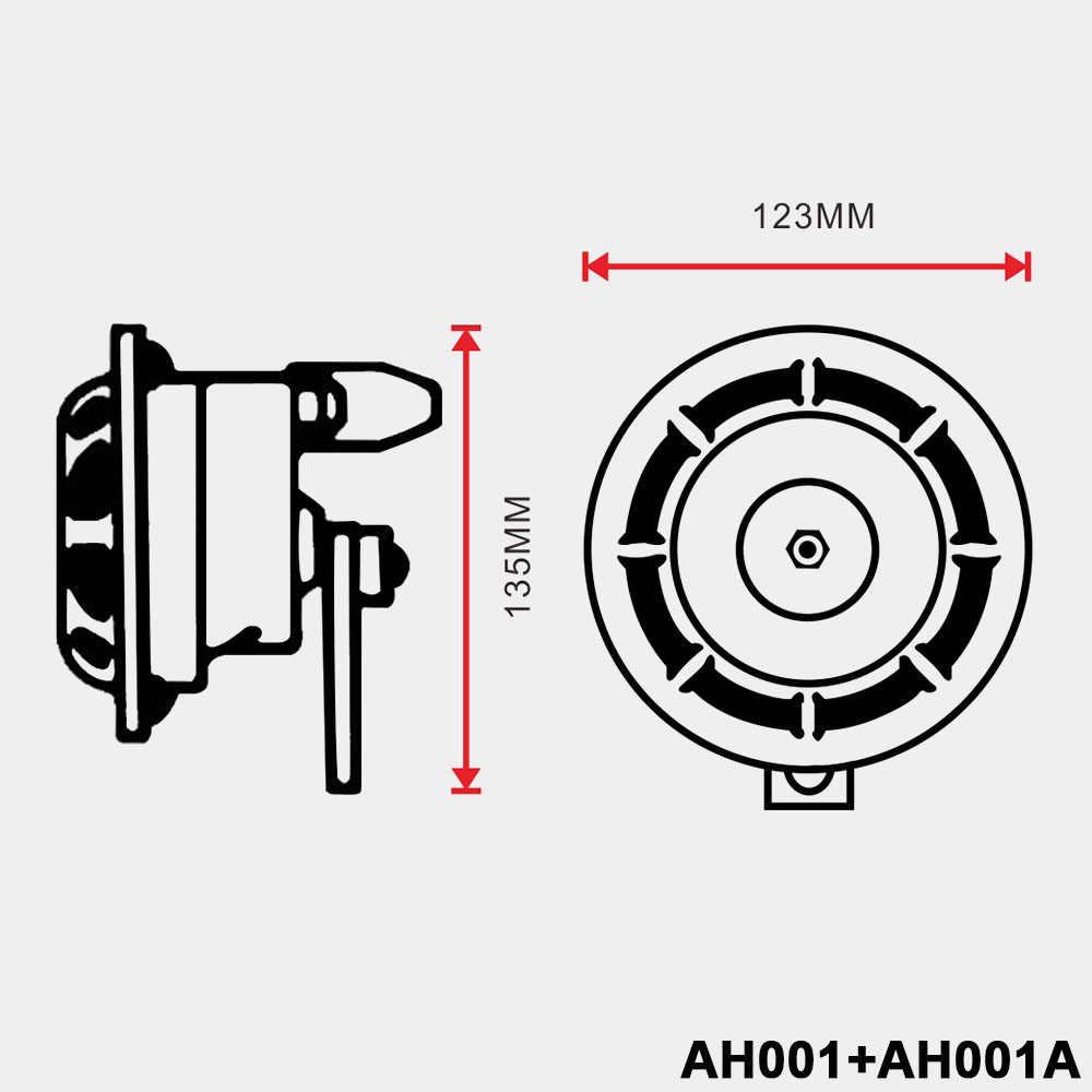 2pcs 12v 115DB Hella Super Loud Compact Electric Blast Tone Air Horn Kit For Motorcycle Car