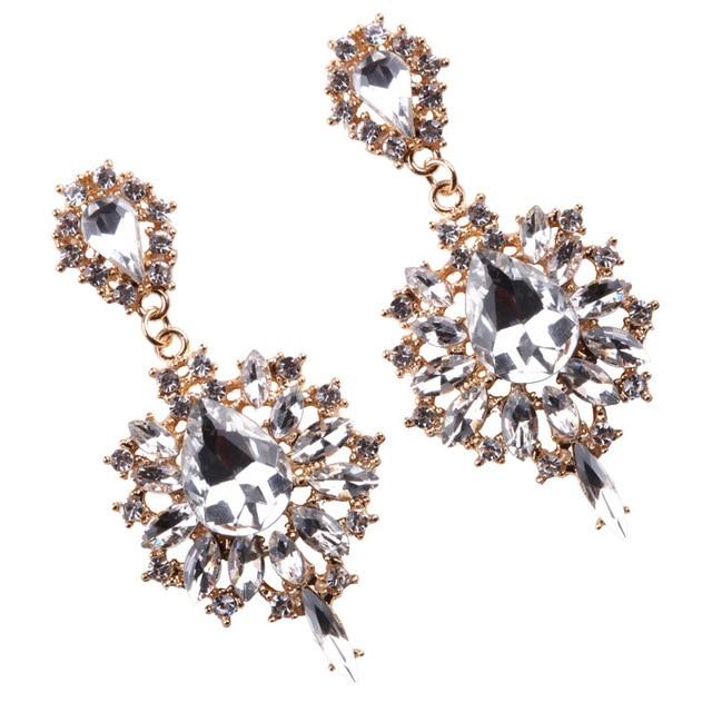 Купить женские серьги подвески в виде цветка