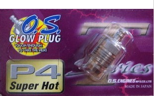 100% originale o.s.  Os p4 glow plug super hot candela 6 pz/lotto motori di trasporto libero per os-in Componenti e accessori da Giocattoli e hobby su  Gruppo 1