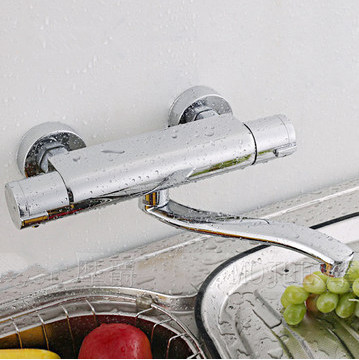 wall kitchen faucetWhole brass kitchen mixer in wall kitchen faucet thermostatic kitchen faucet wall-mounted sink faucet щетка насадка для пола york паула без ручки цвет медный