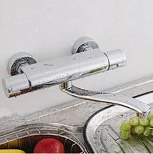 Стены кухни faucetWhole латунь кухонный смеситель в стену кухонный кран термостатический смеситель для кухни настенный кран для раковины