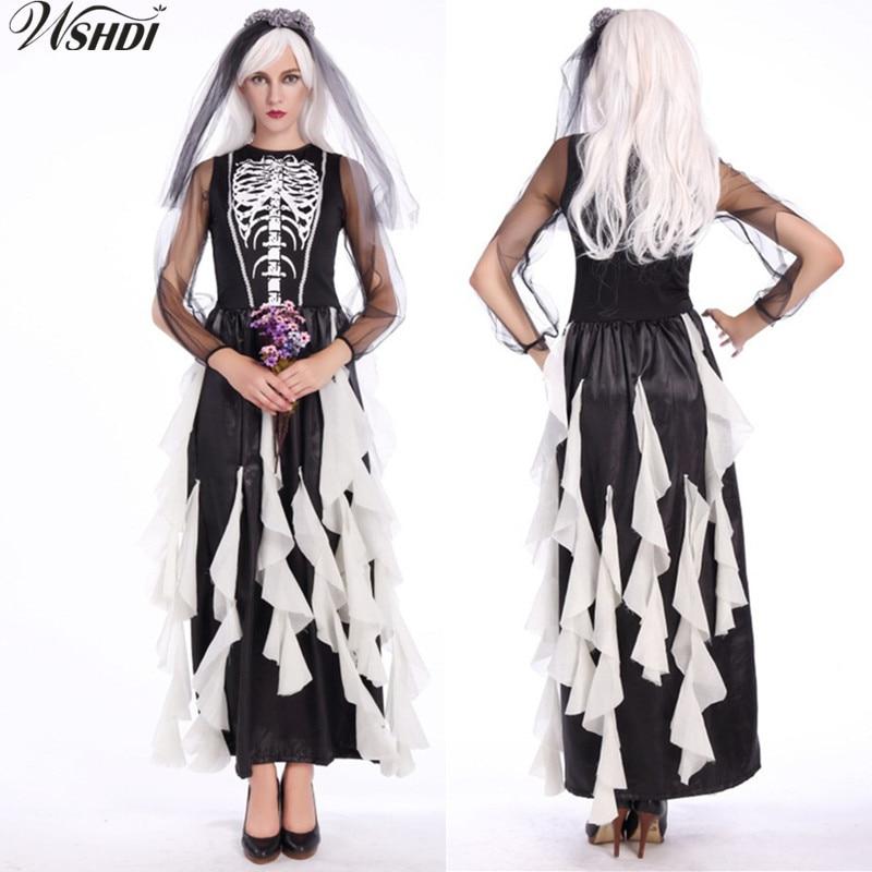 Aliexpress.com : Buy New Adult Ghost Bride Costume Black