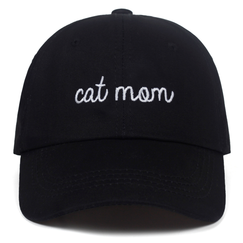 2019 new CAT MOM Letter embroidery   Baseball   hat cotton Snapback hats Fashion hip hop dad   cap   Outdoor Leisure   caps