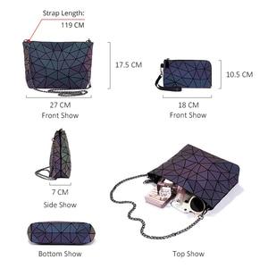 Image 5 - Lovevook bag set women shoulder bags luxury designer folding bag crossbody bag female purse and wallet for ladies luminous color