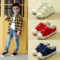 Children Shoes Girls Kids Canvas Shoes Baby 2017 Spring Autumn White Sneaker Cotton Made Baby Single