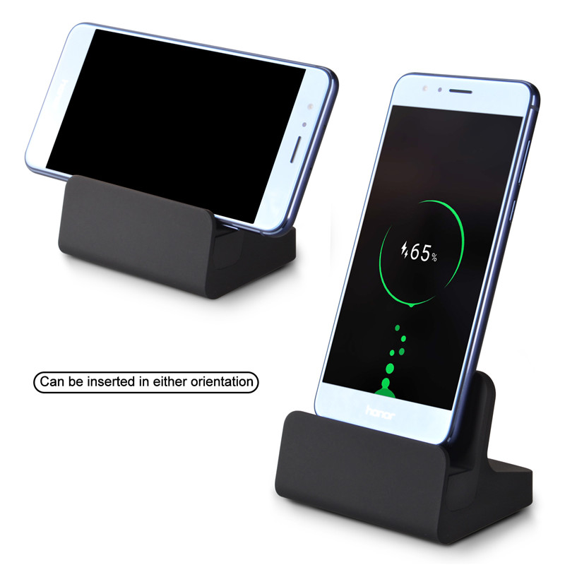Qosea USB Type-c Sync Charge Dock Chargeur Chargeur Pour Huawei P10 Plus Oneplus 5 3 3 T Support Tableau de Bord Charge Type C adaptateur