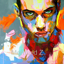 Hand Painted Knife Palette Nielly Francoise Pop Art Oil Paintings Art Abstract Picture Modern Wall Decoration Cool Face