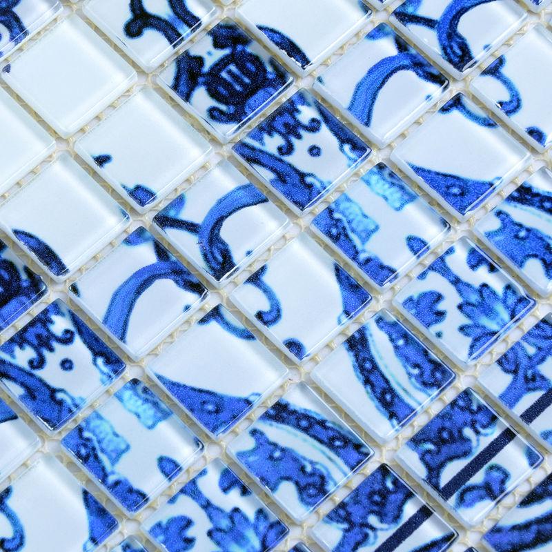 Wholesale Crystal Glass Mosaic Tilestiling Wall Art Tile
