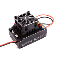 Flycolor Car ESC 60A 80A 120A Brushless Electronic Speed Controller 2 3S for RC Speeding Car Models