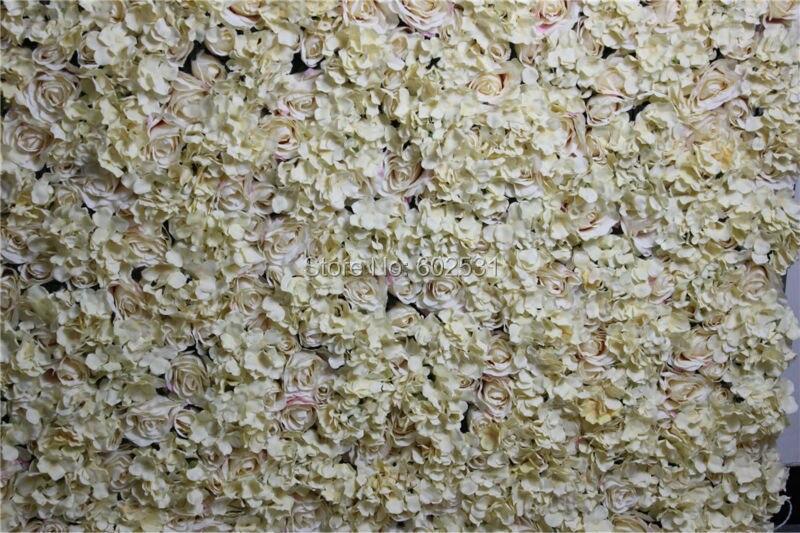 SPR 무료 배송 - 샴페인 - 10pcs / 많은 뜨거운 판매 결혼 참여 꽃 장식 인공 꽃 벽 배경