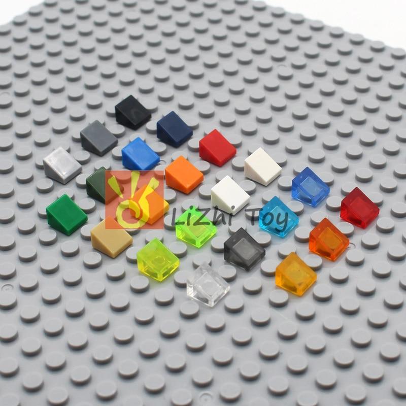 MOC Slope Brick 50746 Slope 30 1 X 1 X 2/3 DIY Enlighten Block Bricks Compatible With Assembles Particles