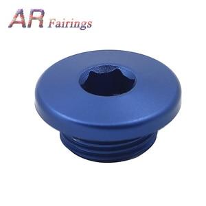 Image 5 - Aluminum For Yamaha YFM700 YFM 700 Top Crankcase Oil Filler Plug & O Ring Raptor Quad Blue Black Silver Red